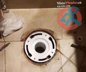 Toilet flange repair in Toronto