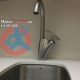 Modern kitchen tap in Toronto condo unit
