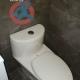 One-piece toilet installed in condo bathroom