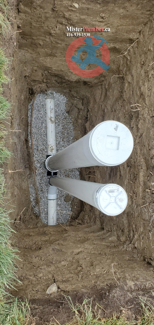 Backwater valve installation in North York