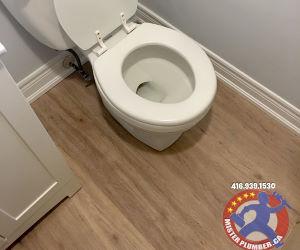 Toilet re-installation after flooring upgrade