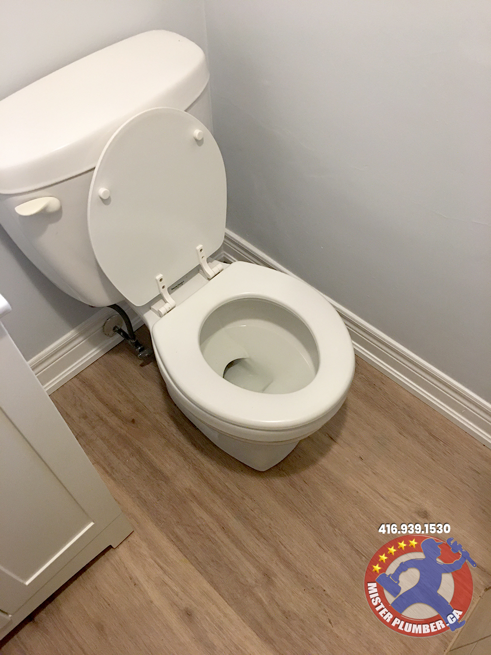 Toilet re-installation after flooring upgradeby Mister Plumber