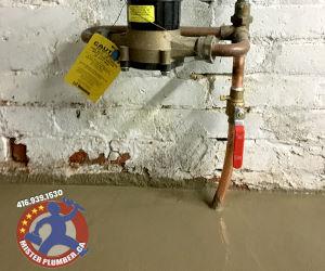 Water line and main shut off valve upgrade