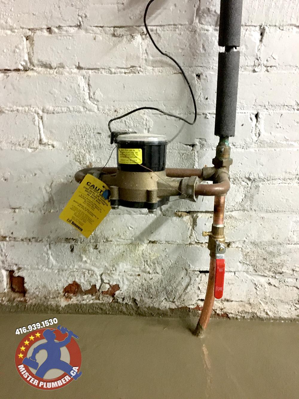 Water line and main shut off valve upgrade in Toronto
