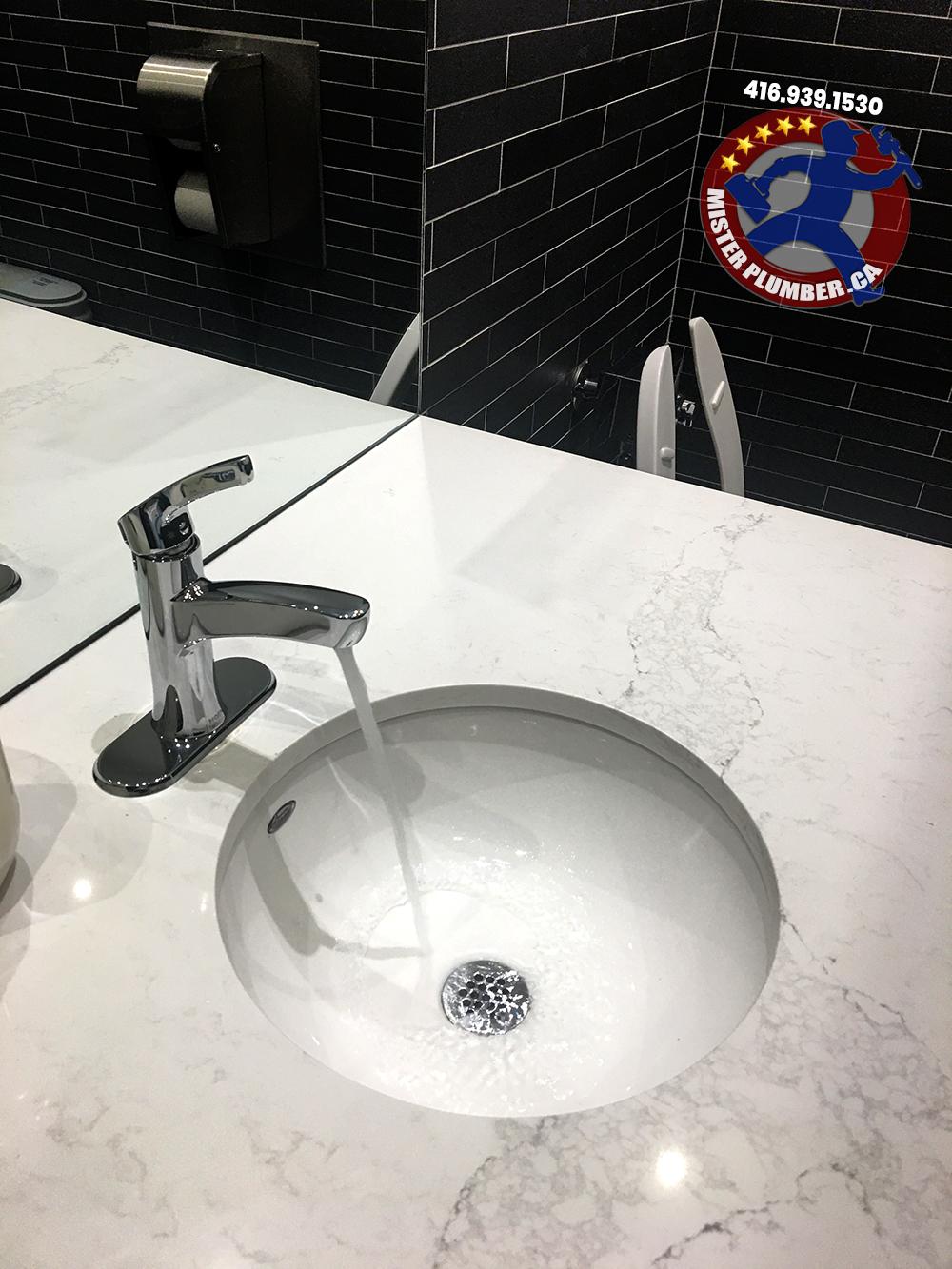 Washroom sink faucet