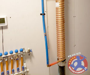 Waste water heat recovery system by Mister Plumber