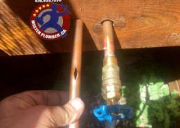tap burst supply pipe repair